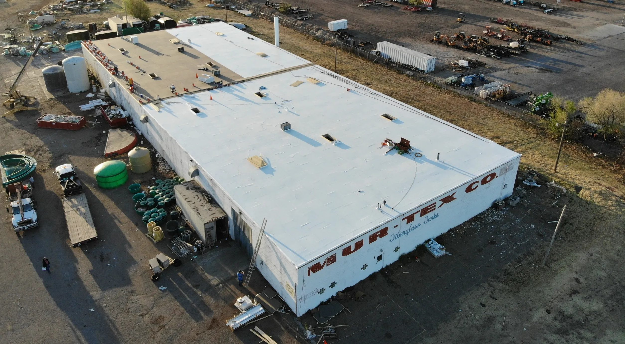 White PVC roof Alliance Alliance Roofing & Construction