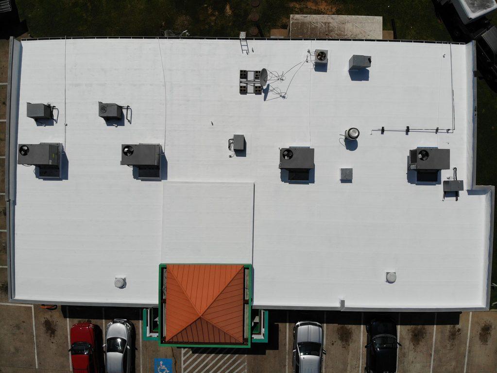 white coatings roof