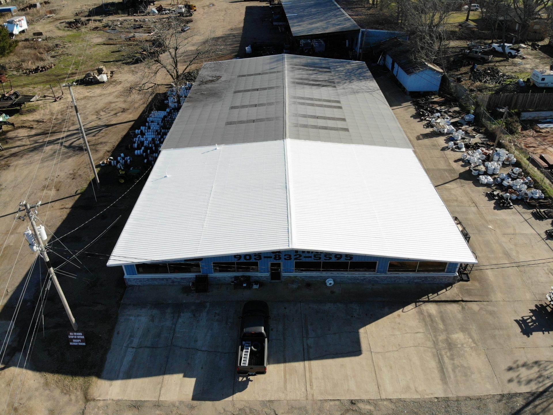 metal restoration roof project